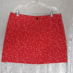 Vineyard Vines Anchor Size 12 Skirt THB2